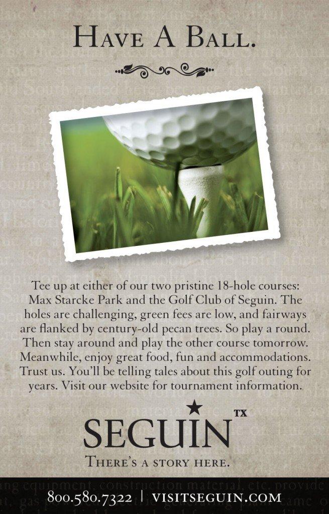 Seguin Golf Ad